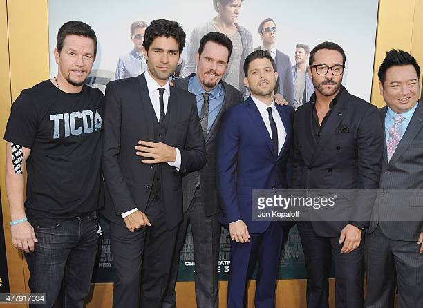 Actor/producer Mark Wahlberg actors Adrian Grenier Kevin Dillon Jerry Ferrara Jeremy Piven and Rex Lee attend at the Los Angeles Premiere Entourage...