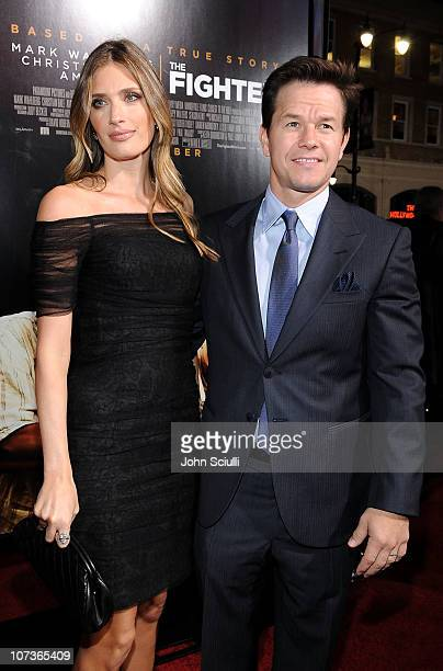 Actor/Producer Mark Wahlberg and wife Rhea Durham arrive at Paramount Pictures' The Fighter premiere at Grauman's Chinese Theatre on December 6 2010...