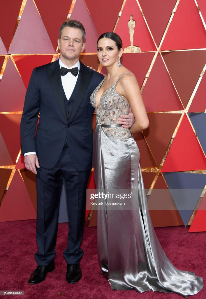 Actor/producer Matt Damon (L) and Luciana Damon attend the 89th Annual Academy Awards at Hollywood & Highland Center on February 26, 2017 in Hollywood, California.
