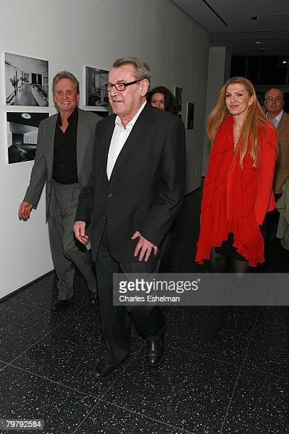 Actor/Producer Michael Douglas Writter/Director Milos Forman and wife Martina Zborilova attend One Flew Over the Cuckoo's Nest Intro At MoMA on...