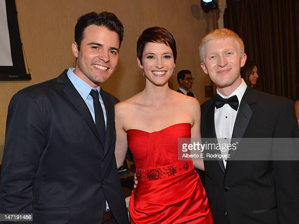 Actor/producer Nathan West actress Chyler Leigh and The Thirst Project founder/CEO Seth Maxwell attend The Thirst Project's 3rd Annual Gala at The...