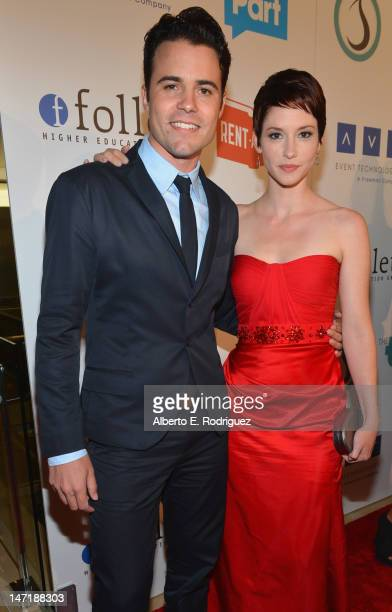 Actor/producer Nathan West and actress Chyler Leigh arrive to The Thirst Project's 3rd Annual Gala at The Beverly Hilton Hotel on June 26 2012 in...