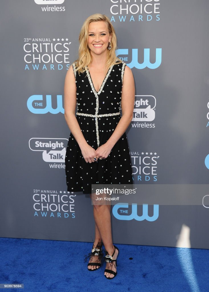 Actor-producer Reese Witherspoon attends The 23rd Annual Critics' Choice Awards at Barker Hangar on January 11, 2018 in Santa Monica, California.