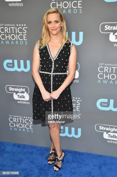 Actorproducer Reese Witherspoon attends The 23rd Annual Critics' Choice Awards at Barker Hangar on January 11 2018 in Santa Monica California