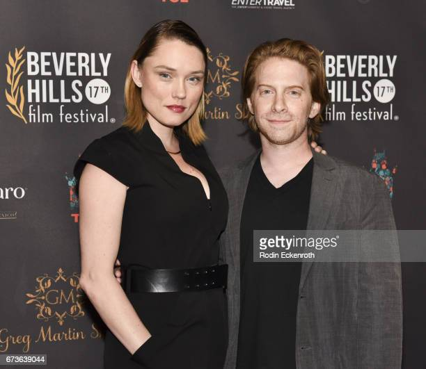 Actor/producer Seth Green and actress Clare Grant attend the 17th Annual Beverly Hills Film Festival Opening Night at TCL Chinese 6 Theatres on April...