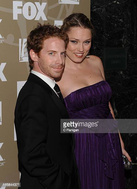 Actor/Producer Seth Green and Actress Clare Grant attend the 20th Century Fox and FX 2009 Emmy Party at Cicada on September 20, 2009 in Los Angeles,...