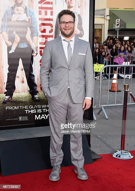 """Actor/producer Seth Rogen attends Universal Pictures' """"Neighbors"""" premiere at Regency Village Theatre on April 28, 2014 in Westwood, California."""