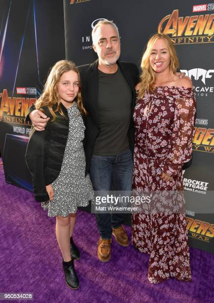 Actorproducer Titus Welliver and Jose Stemkens attend the Los Angeles Global Premiere for Marvel Studios' Avengers Infinity War on April 23 2018 in...