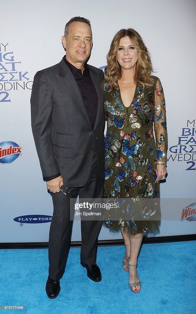 Actor/producer Tom Hanks and actress Rita Wilson attend the 'My Big Fat Greek Wedding 2' New York premiere at AMC Loews Lincoln Square 13 theater on March 15, 2016 in New York City.