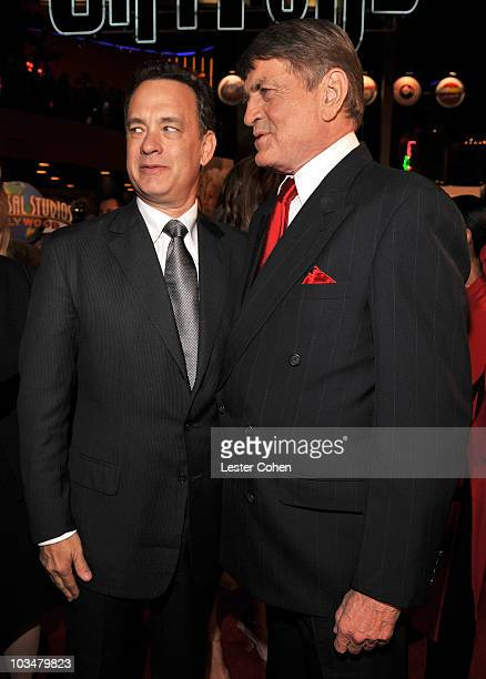 Actor/producer Tom Hanks and Charlie Wilson arrive to the premiere of Universal Pictures' Charlie Wilson's War at City Walk Cinemas on December 10...