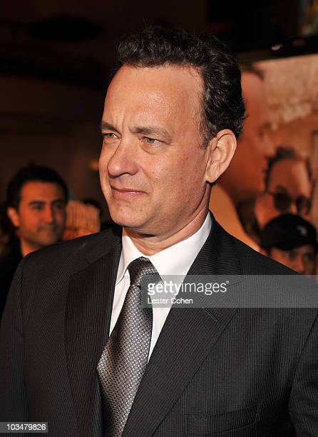 Actor/producer Tom Hanks arrives to the premiere of Universal Pictures' Charlie Wilson's War at City Walk Cinemas on December 10 2007 in Universal...