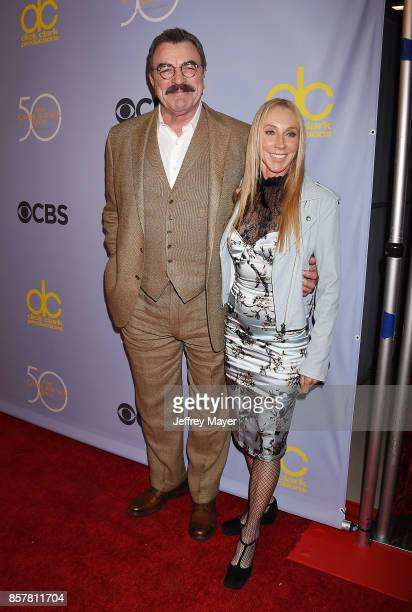 Actor-producer Tom Selleck and wife-actress Jillie Mack attend the CBS' 'The Carol Burnett Show 50th Anniversary Special' at CBS Televison City on...
