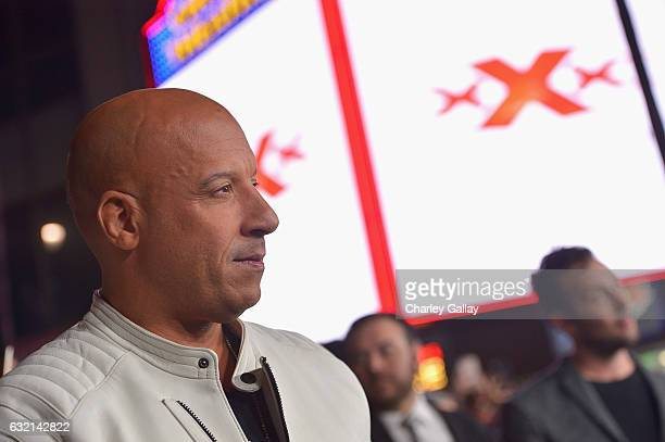 Actor/producer Vin Diesel attends the LA Premiere of the Paramount Pictures title 'xXx Return of Xander Cage' at TCL Chinese Theatre IMAX on January...