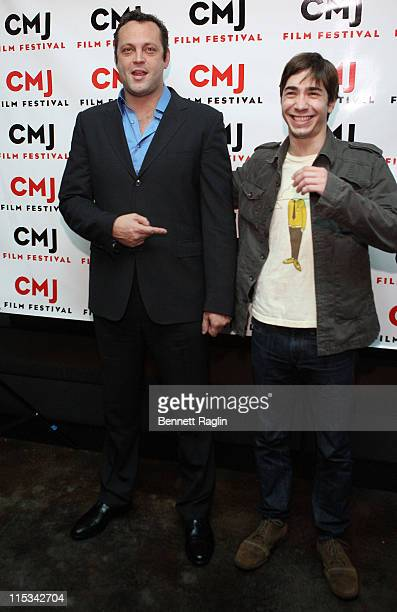 Actor/Producer Vince Vaughn and Actor Justin Long attend the screening of Vince Vaughn's Wild West Comedy Show 30 Days 30 Nights Hollywood to the...