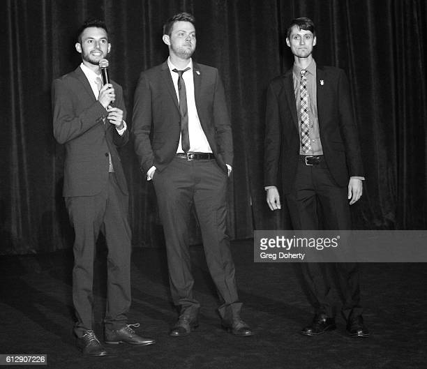 """Actor/Producer Wesley Elder, Cinematographer Cory Vetter and Director Caleb Vetter arrive for the Red Carpet Premiere Of Stadium Media's """"The..."""