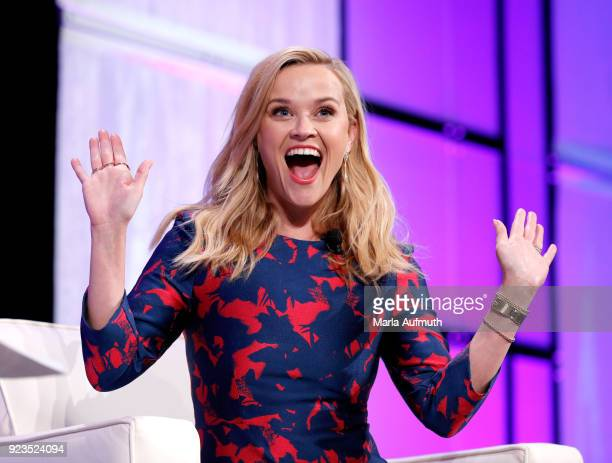 Actor/producer/activist Reese Witherspoon speaks onstage at the Watermark Conference for Women 2018 at San Jose Convention Center on February 23 2018...