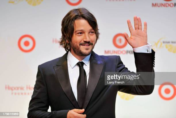 Actor/producer/director Diego Luna attends the 26th Annual Hispanic Heritage Awards presented by Target at the John F Kennedy Center for the...