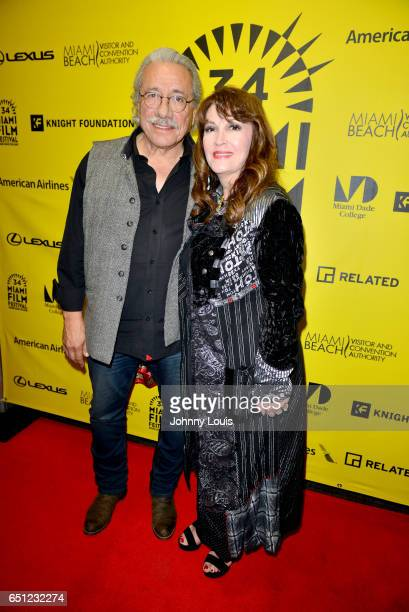 Actor/Producer/Director Edward James Olmos and actor Mary Apick attend the Miami Dade College's Miami Film Festival for 'Monday Nights At Seven' at O...