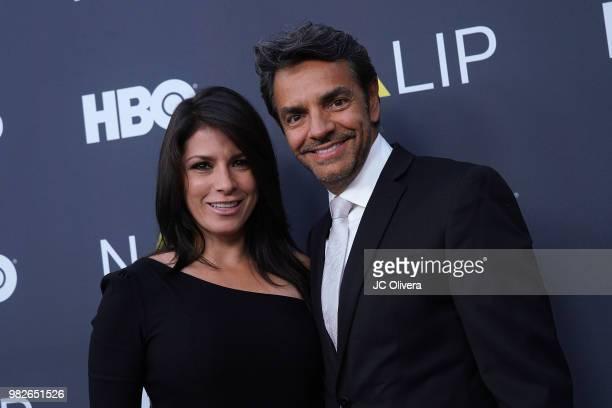 Actor/producer/director Eugenio Derbez and actor Alessandra Rosaldo attend NALIP 2018 Latino Media Awards at The Ray Dolby Ballroom at Hollywood...