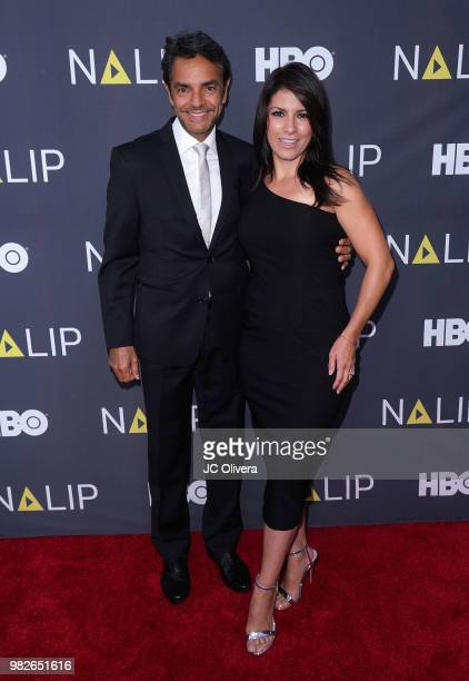 Actor/producer/director Eugenio Derbez and actor Alessandra Rosaldo attend NALIP 2018 Latino Media Awards at The Ray Dolby Ballroom at Hollywood...
