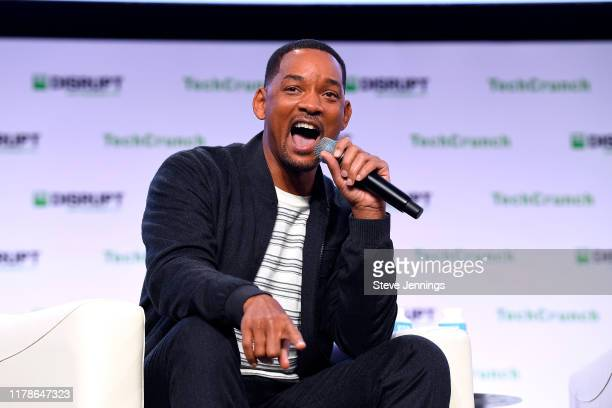 Actor/Producer/Musician Will Smith speaks onstage during TechCrunch Disrupt San Francisco 2019 at Moscone Convention Center on October 02, 2019 in...