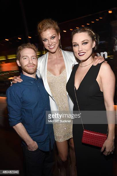 Actor/producer/writer Seth Green actresses Adrianne Palicki and Clare Grant attend Entertainment Weekly's ComicCon 2015 Party sponsored by HBO Honda...