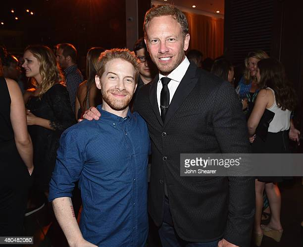 Actor/producer/writer Seth Green and actor Ian Ziering attend Entertainment Weekly's ComicCon 2015 Party sponsored by HBO Honda Bud Light Lime and...