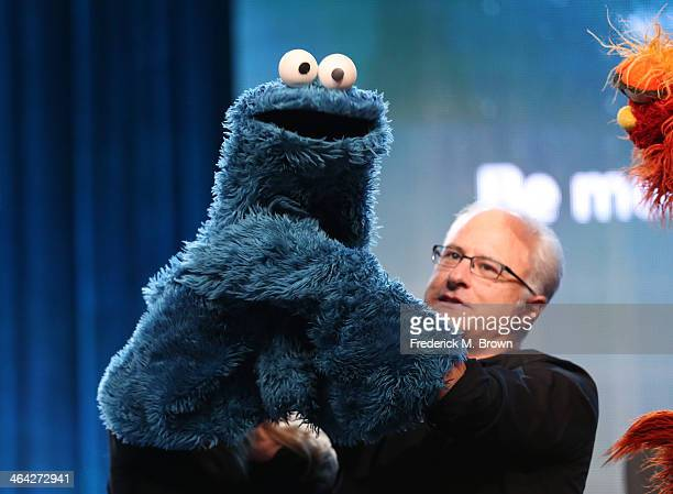 Actor/Puppeteer David Rudman speaks onstage during the 'PBS Kids Update/Sesame Street 45th Season Anniversary' panel discussion at the PBS portion of...