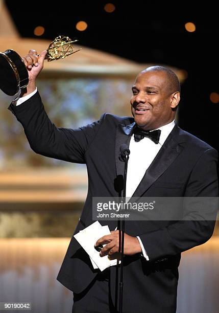 Actor/puppeteer Kevin Clash accepts the Emmy foe Lifetime Achievement Award for 'Sesame Street' during the 36th Annual Daytime Emmy Awards at The...