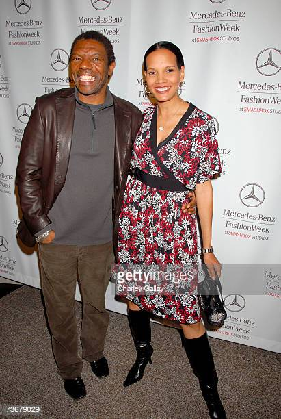 Actorr Vondie CurtisHall and actress Shari Headley attend Mercedes Benz Fashion Week held at Smashbox Studios on March 22 2007 in Culver City...