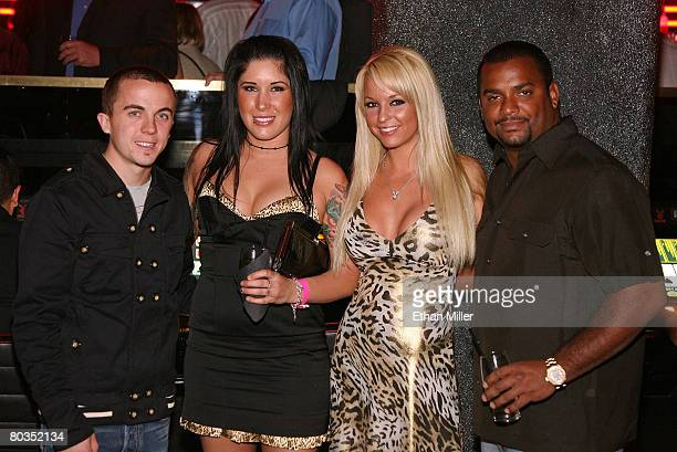 Actor/race car driver Frankie Muniz Amanda Flores Playboy Playmate Heather Rene Smith and actor Alfonso Ribeiro attend IRL driver Marco Andretti's...