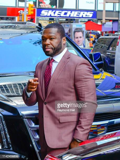 Actor/Rapper 50 Cent is seen outside Good Morning America on May 9, 2019 in New York City.