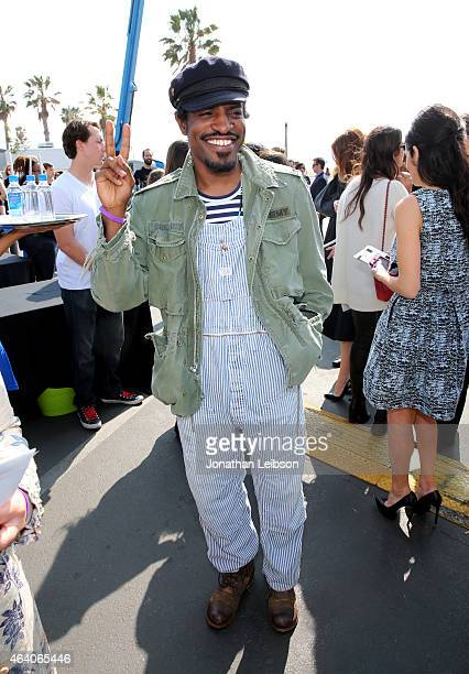 Actor/rapper Andre Benjamin attends the 2015 Film Independent Spirit Awards at Santa Monica Beach on February 21 2015 in Santa Monica California