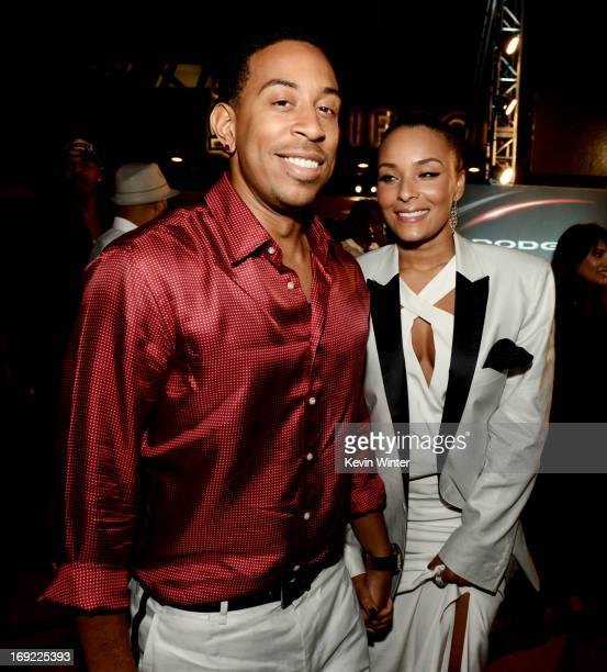 Actor/rapper Chris 'Ludacris' Bridges and his girlfriend Eudoxie arrive at the after party for the premiere of Universal Pictures' Fast Furious 6 at...