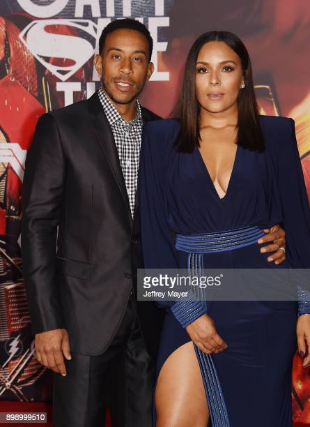 Actor/rapper Chris 'Ludacris' Bridges and wife Eudoxie Mbouguiengue arrive at the premiere of Warner Bros Pictures' 'Justice League' at the Dolby...