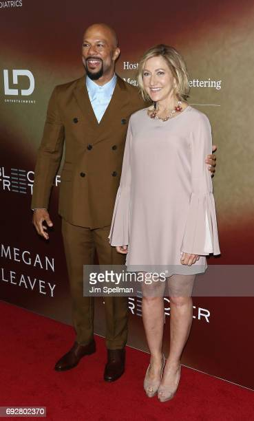 Actor/rapper Common and actress Edie Falco attend the Megan Leavey world premiere at Yankee Stadium on June 5 2017 in New York City
