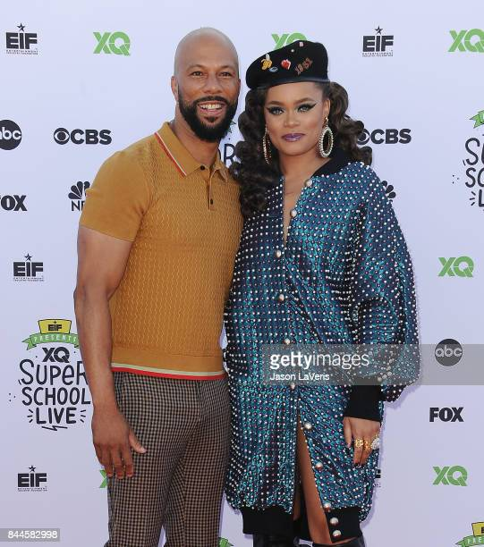 Actor/rapper Common and singer Andra Day attend XQ Super School Live at The Barker Hanger on September 8 2017 in Santa Monica California