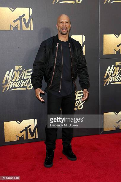 Actor/rapper Common attends the 2016 MTV Movie Awards at Warner Bros Studios on April 9 2016 in Burbank California MTV Movie Awards airs April 10...