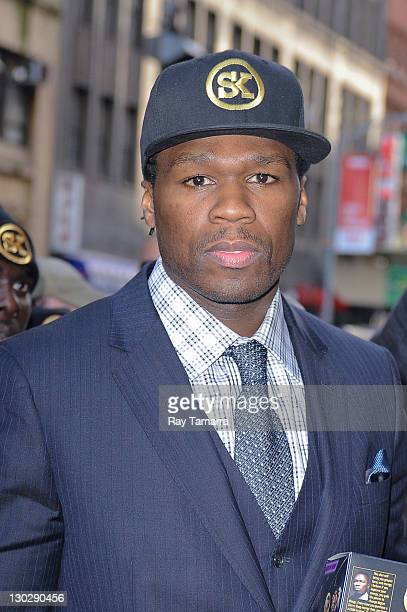 Actor/rapper Curtis 50 Cent Jackson enters the Today Show taping at the NBC Rockefeller Studio on October 25 2011 in New York City