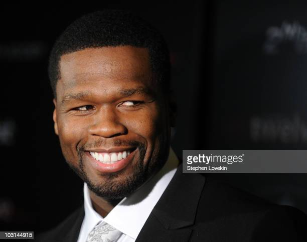 Actor/rapper Curtis Jackson aka 50 Cent attends the Cinema Society 2ist screening of Twelve at Landmark's Sunshine Cinema on July 28 2010 in New York...