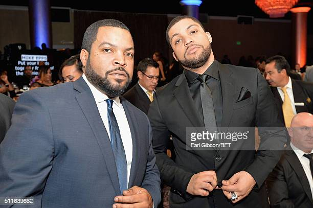 Actor-rapper Ice Cube and actor O'Shea Jackson Jr. In the audience during the 2016 ABFF Awards: A Celebration Of Hollywood at The Beverly Hilton...