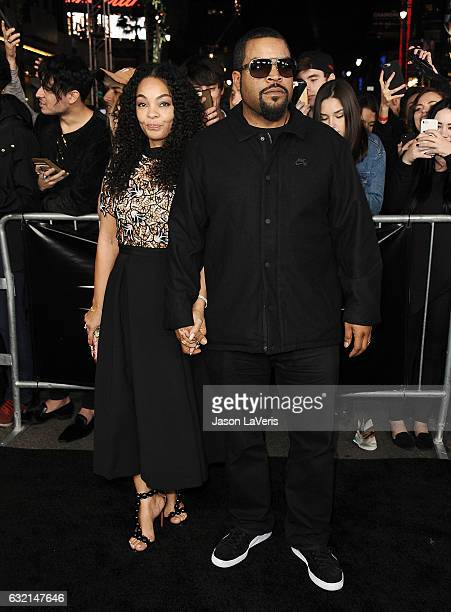 Actor/rapper Ice Cube and wife Kimberly Woodruff attend the premiere of xXx Return of Xander Cage at TCL Chinese Theatre IMAX on January 19 2017 in...