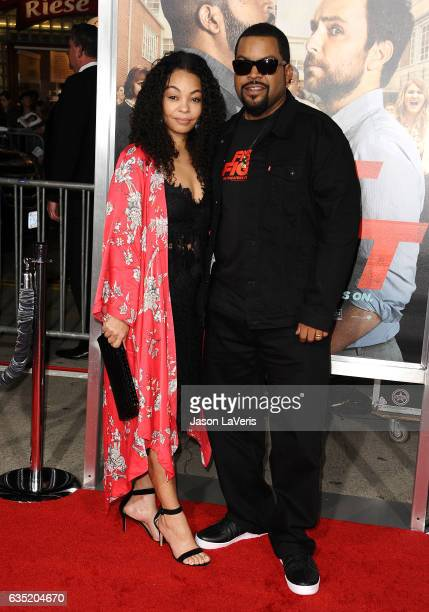Actor/rapper Ice Cube and wife Kimberly Woodruff attend the premiere of Fist Fight at Regency Village Theatre on February 13 2017 in Westwood...