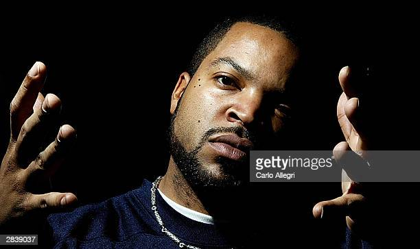 Actor/rapper Ice Cube sits for a portrait shoot during the 20034 Americas Party New Years Eve Talent Gift Lounge at the Venetian Hotel December 31...