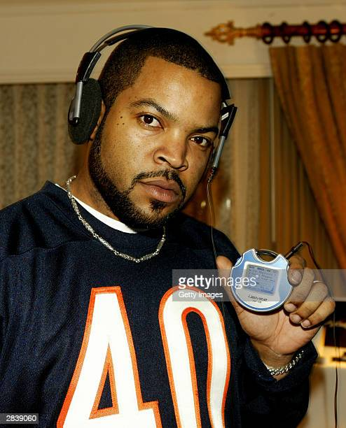 Actor/rapper Ice Cube stops by the iRiver MP3 suite during Americas Party New Years Eve Talent Gift Lounge at the Venetian Hotel December 31, 2003 in...