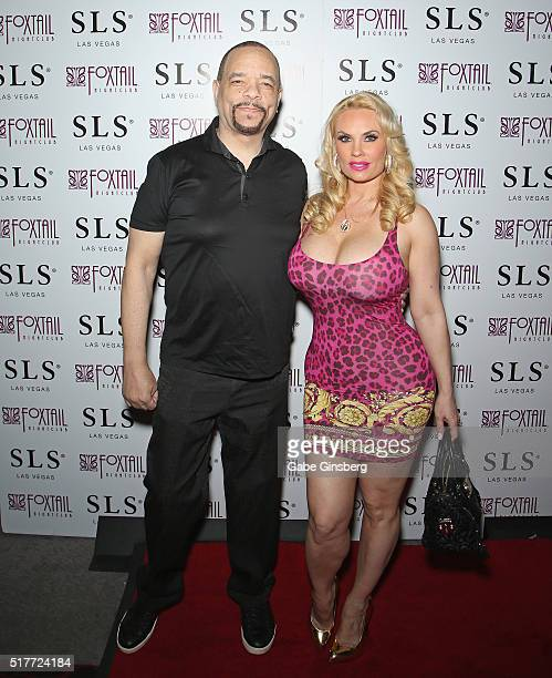 Actor/rapper IceT and his wife model Nicole Coco Austin attend Austin's birthday party at Foxtail Nightclub at SLS Las Vegas on March 27 2016 in Las...