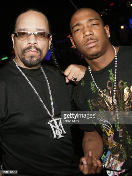 Actor/rapper IceT and rapper Ja Rule attend the grand opening of Mario Barth's Starlight Tattoo at the House of Blues inside the Mandalay Bay Resort...