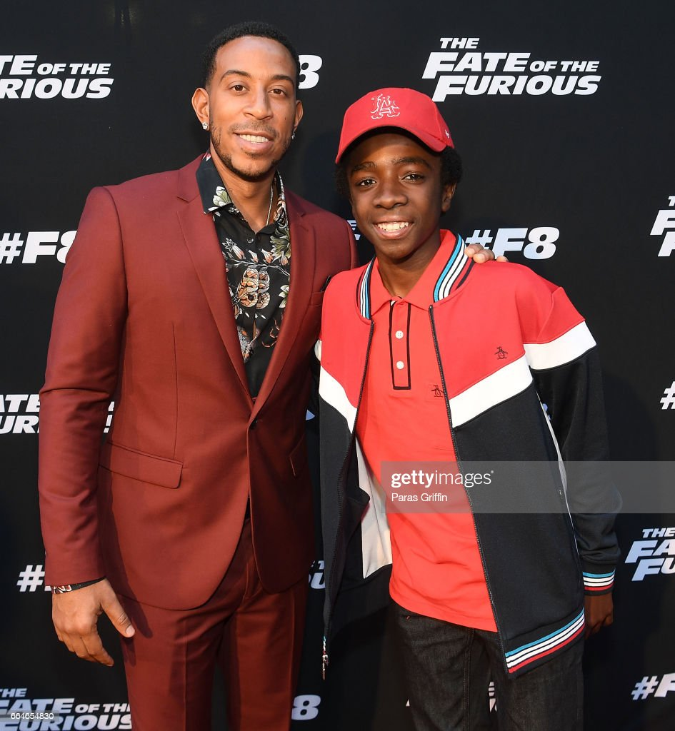 Actor/rapper Ludacris and actor Caleb McLaughlin attends 'The Fate Of The Furious' Atlanta red carpet screening at SCADshow on April 4, 2017 in Atlanta, Georgia.