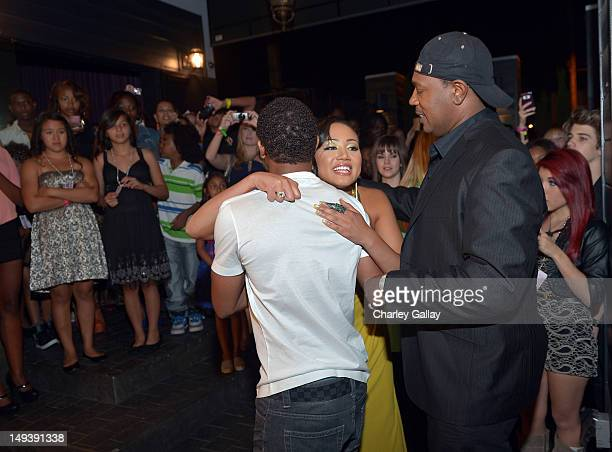 Actor/rapper Romeo Cymphonique Miller and their father rapper Master P attend the Sweet 16th birthday celebration for Cymphonique Miller star of...