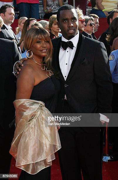 Actor/rapper Sean 'Diddy' Combs and mother Janice Combs arrive at the 60th Primetime Emmy Awards at the Nokia Theatre on September 21 2008 in Los...